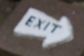 An exit stone