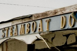 Steamboat Dock Museum sign
