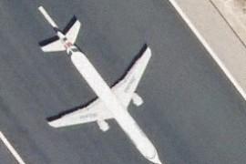 Avión en el aeropuerto de Barajas