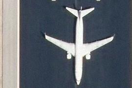 Avión en las pistas de Barajas