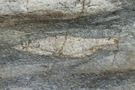 Stretched clast