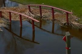 Flooded bridge