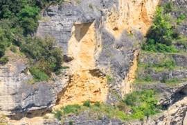 Rockslide scar