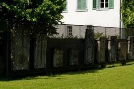 Gravestones.