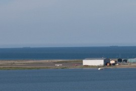 Barges in Kotzebue Sound