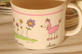 cute French cup