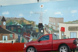 Railroading mural