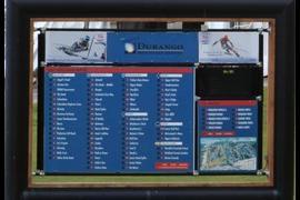 Ski Trail Status Board
