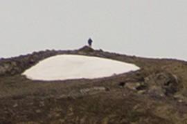 Miguel en la cima de la Punta de las Ola