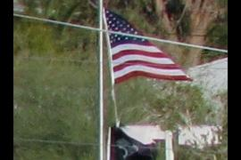 Flag... confirms a windy day in Ajo