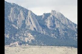 NCAR against the Flatirons, Boulder, CO
