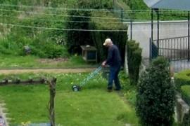 Mooie dag om het gras te maaien