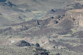 Saddle Butte lava landslide