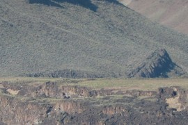 Saddle Butte Lava dam