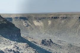 Artillery landslide headscarp