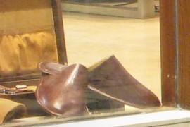 slippers in store window