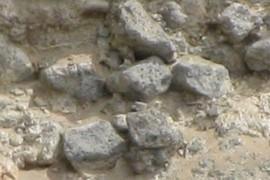 Rounded vesicular basalt