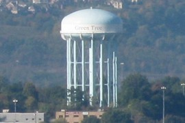 water tower in Green Tree