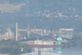 chemical plants at southeast end of Neville Island