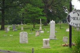Historic Midland Cemetery Sign