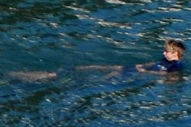 four legs swimmer
