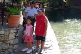 A Family That Walks the Riverwalk Together, Stays Together