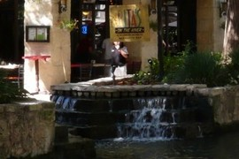Waterfall & Ritas on the Riverwalk