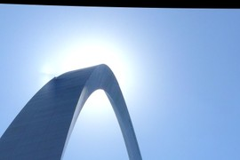 sun eclipsed by arch
