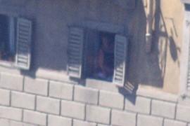 lady spy from the window