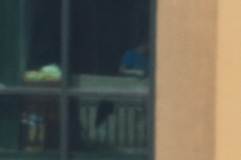 Person in Skyscraper Window