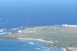Kalaupapa airport and lighthouse