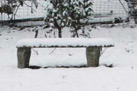 a cold concrete seat