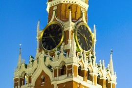 Clock on Spasskaya tower