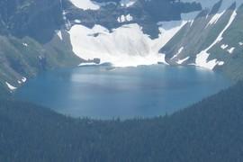 Glacier calving icebergs
