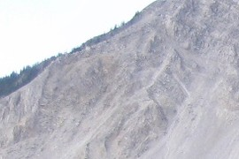 ~profile view of the overturned Turtle Mountain Anticline