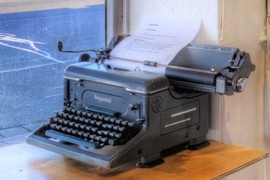 Old Imperial Typewritter