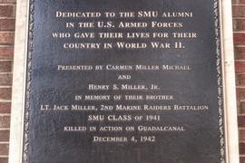 The Lt. Jack Miller Memorial Plaque