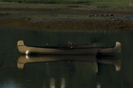 This is one canoe left behind