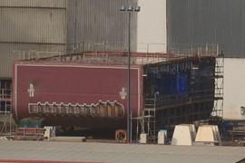 HMAS Adelaide blocks
