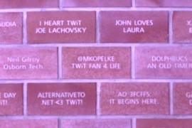 @mkopelke on the Brick TWiT House Wall!
